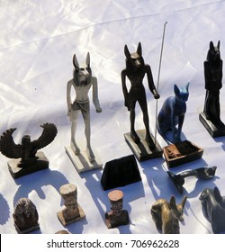 Stone art at street shopping in Egypt