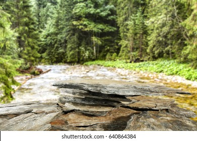stone background in forest