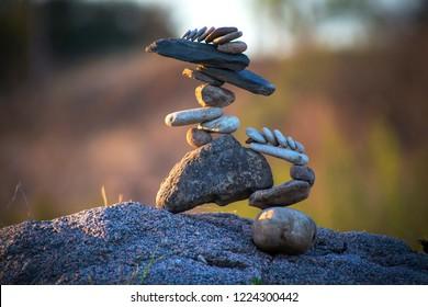 stone balance land art