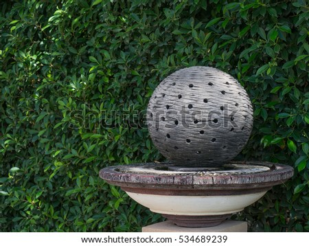 Stone Ball Holes Garden Decoration Art Stock Photo Edit Now Enchanting Stone Ball Garden Decoration