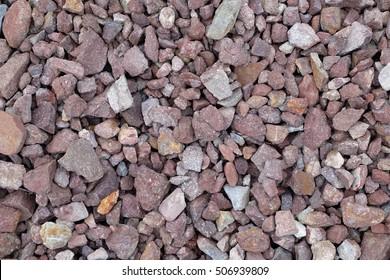 stone ballast for railroad background