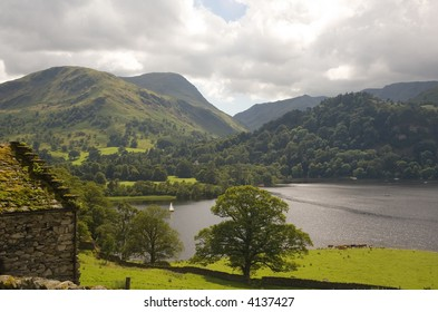 Stone Barn overlooking Ullswater in the English Lake District
