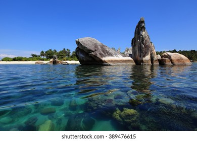 Stone Bird location Island Belitung Indonesia