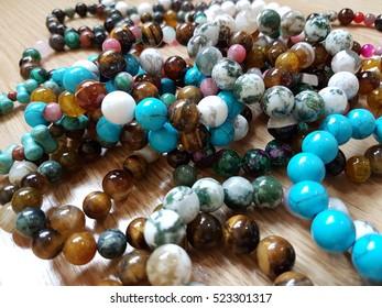 Stone bracelet beads