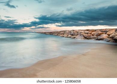 Stone Breakwater in Valencia