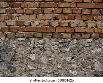 stone with brick