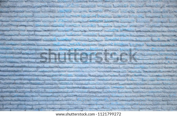 Stone brick wall texture loft style old grunge blue vintage rough exterior wall background
