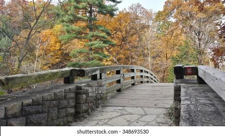 stone bridge in Autumn setting