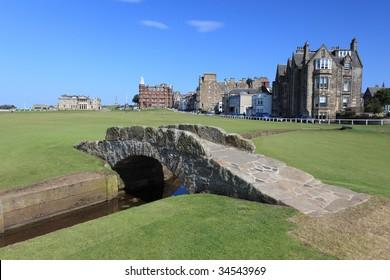 Stone bridge in Old Course, St. Andrews, Scotland