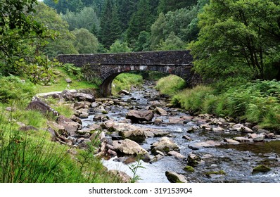 Stone Bridge over the River Caerfanell in the Brecon Beacons, Wales