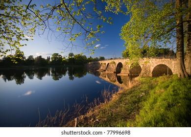 """Stone bridge """"stenbron"""" in Karlstad Sweden in the Summer"""