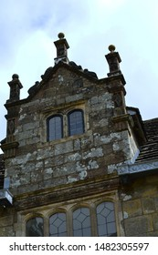 Stone build Tudor house in English country side