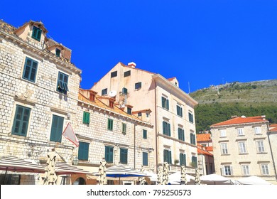 Stone buildings in Dubrovnik old town, Croatia