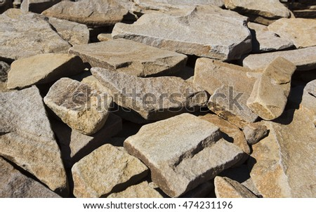 Stone Bulge Texture Background Natural Color Stock Photo