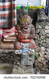 stone carved balinese statuetes depicting dietys and gods