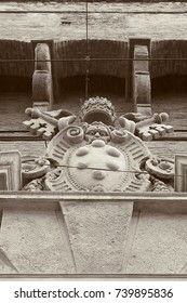 Stone carving. Bologna. Italy