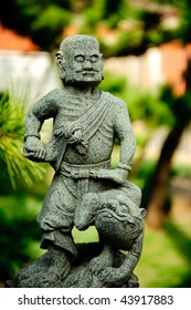 stone carving of chinese  martial art