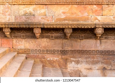 stone carving at Dada Harir stepwell in Ahmedabad, Gujarat