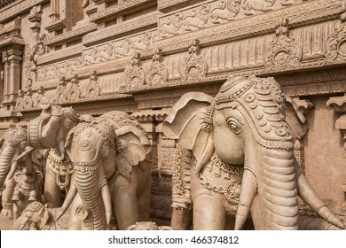 Stone carvings in a Hindu temple