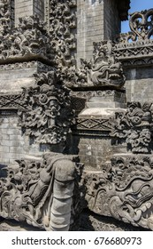 Stone Carvings on Hindu Temple at Pura Geger, Nusa Dua, Bali