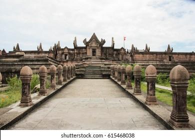 stone castle Cambodia  with centre picture