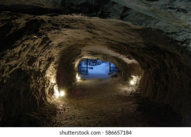 Stone cave inside
