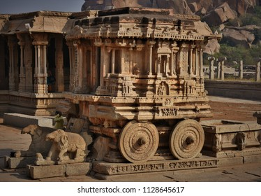 Stone Chariot of Hampi, Karnataka - An architectural marvel.