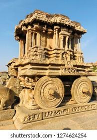 Stone chariot Vitthal Mandir, Hampi Karnataka