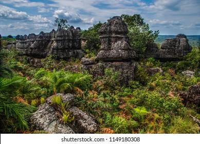 Stone city in National Park of Serrania de la Macarena, La Macarena, Colombia, South America