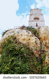 Stone clock tower