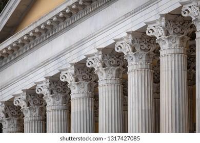 Stone column ancient classic architecture detail