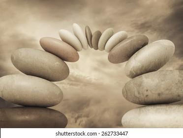 Stone composition.Teamwork