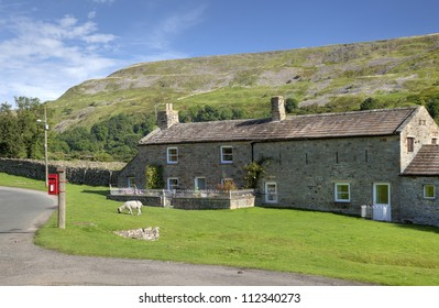 Stone cottage near Reeth, Yorkshire Dales National Park, England
