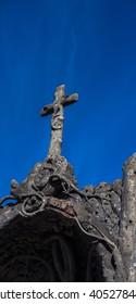 stone cross in recoleta cemetery