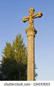 Stone crosses are traditionally placed in the intersection of the streets