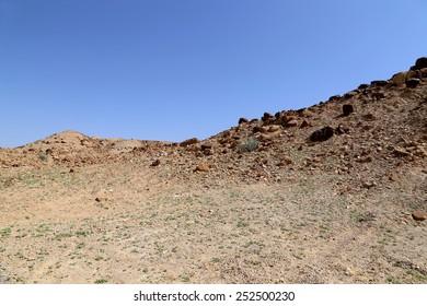 Stone Desert in the center of Jordan, Middle East