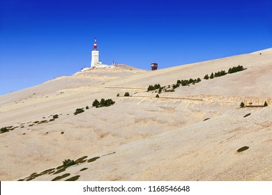 Stone desert at the top of Mont Ventoux in Provence,France.