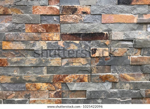 Stone Effect Look Coloured Tiles Stock Photo (Edit Now) 1025422096