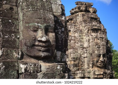 Stone Faces of Bayon Temple, Angkor Thom