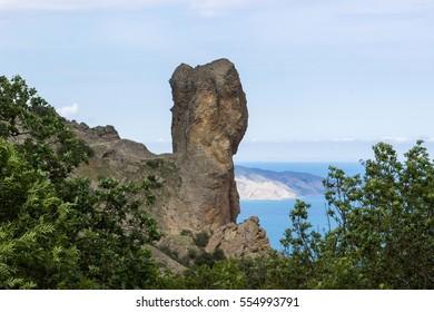 Stone figures in Karadag national park, Crimea