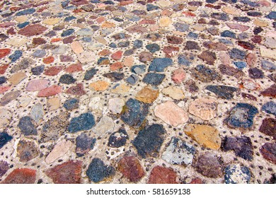 Stone floor at Pyramid of the Moon, Teotihuacan, Mexico
