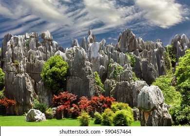 The Stone Forest in the Yunnan Province in China