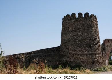 Stone fortress . Georgia.