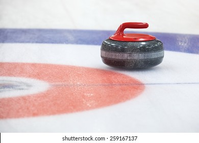 Stone for game in curling on ice