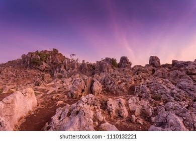 Stone Garden Geopark in Padalarang, Bandung, West Java, Indonesi