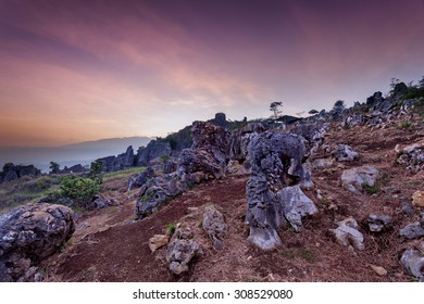 Stone Garden Taken at Dawn. Padalarang, Bandung, West Java, Indo