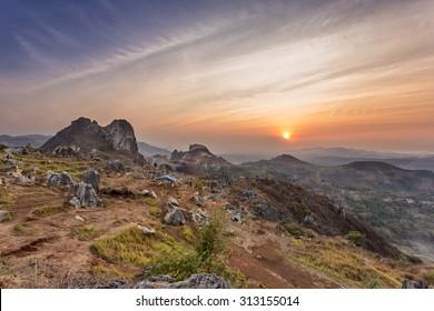 Stone Garden Taken at Sunset. Padalarang, Bandung, West Java, In