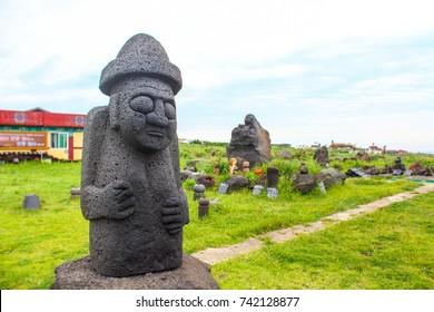 stone grandpa in Jeju island