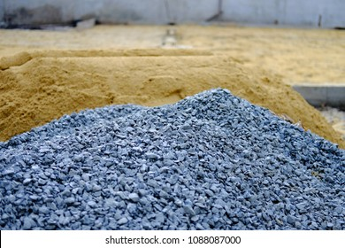 Stone gravel and sandy in construction area