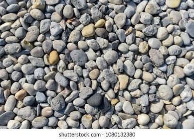 Stone at ground with top view, Texture background